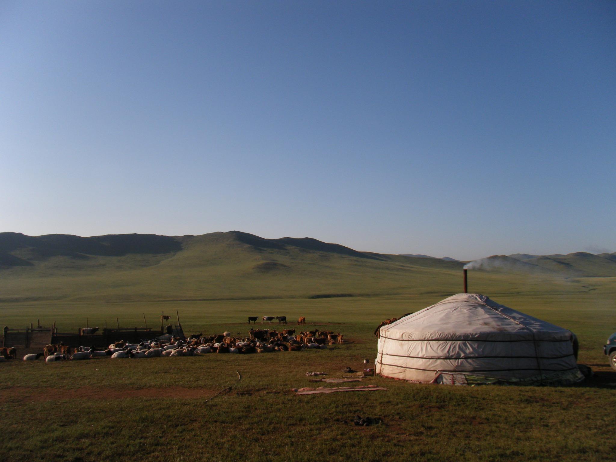 モンゴルではゲルの宿泊で遊牧体験!構造やトイレ・風呂などの施設も紹介!
