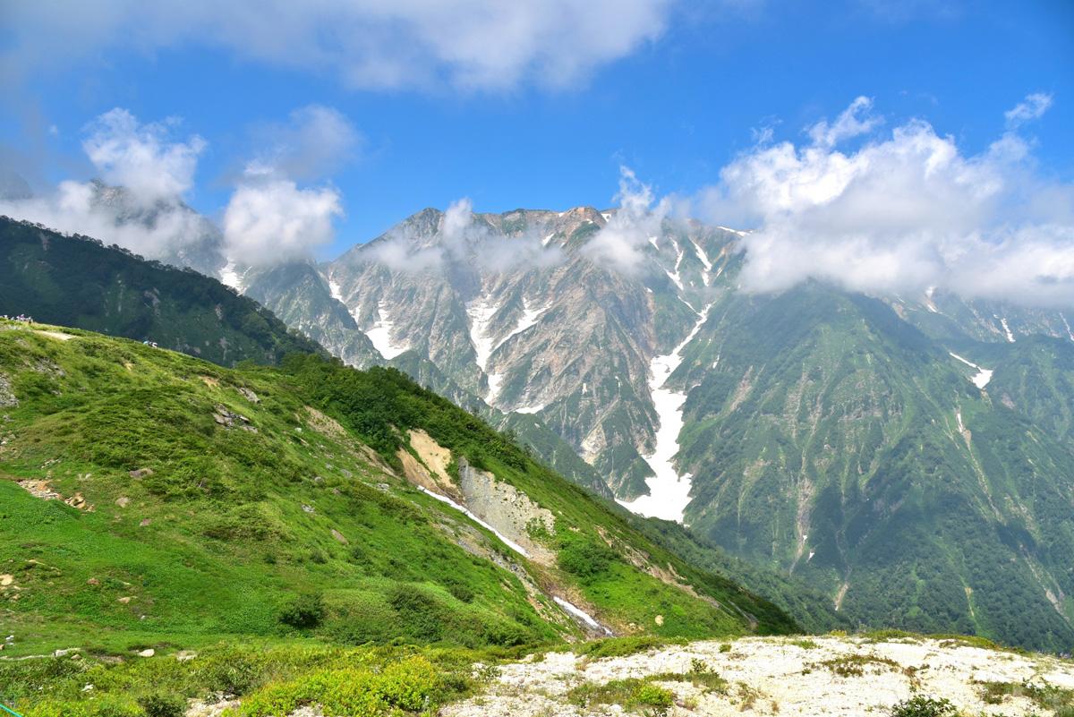 白馬大雪渓を登山トレッキングしよう!初心者は遊歩道がおすすめ!