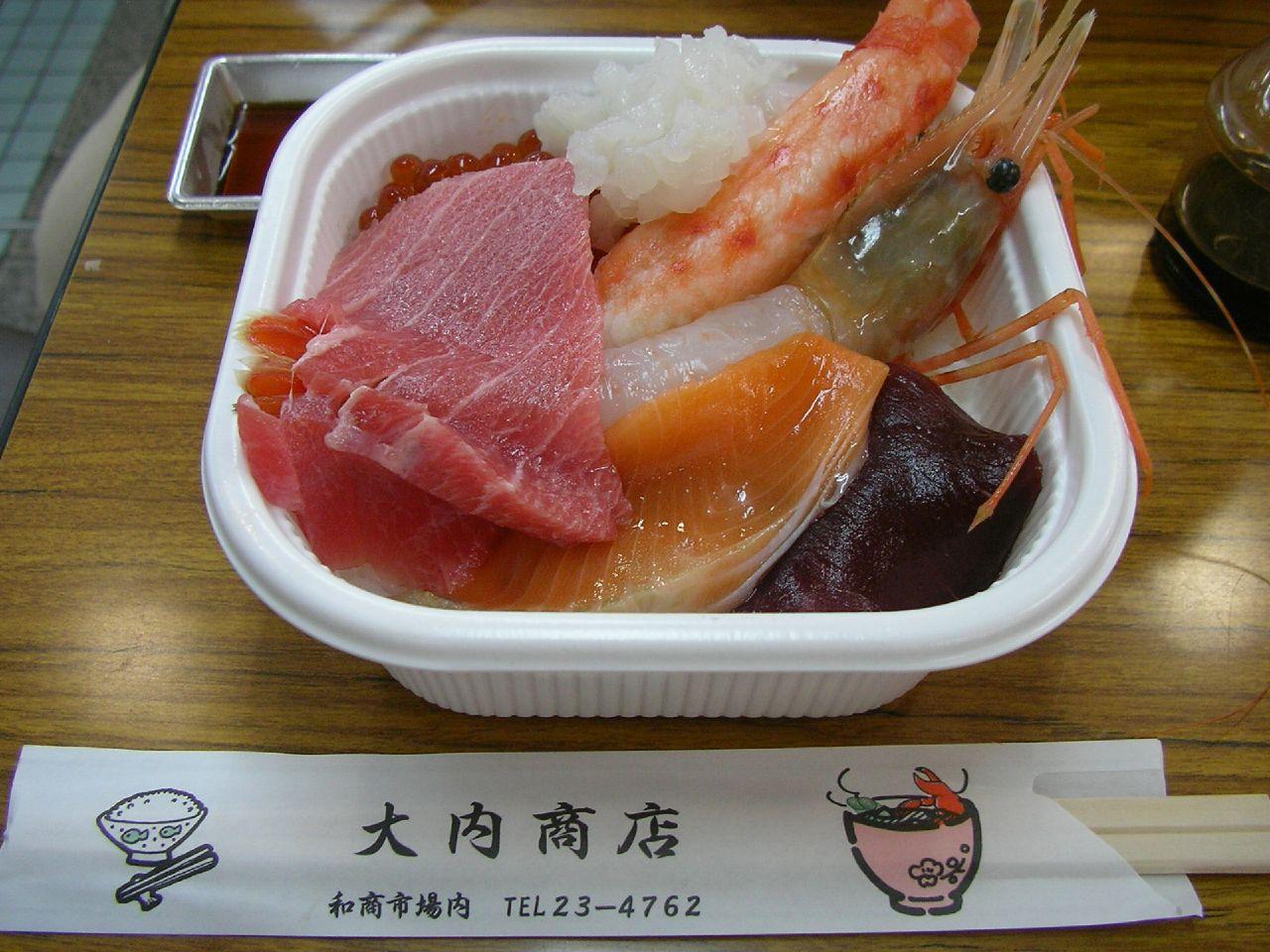 勝手丼は釧路にある和商市場の名物!お好みの海鮮でオリジナル丼を作ろう!